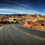 2. Nevadská poušť, USA.